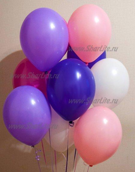 Воздушные шары в розово-фиолетовой гамме