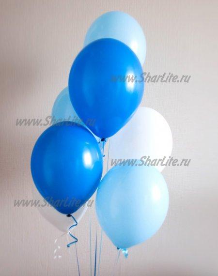 Шары синие, белые и голубые