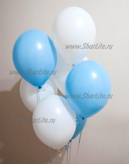 Воздушные шарики голубые и белые