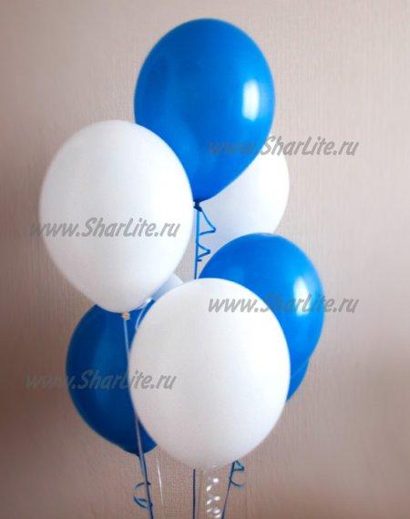 Воздушные шары синие и белые