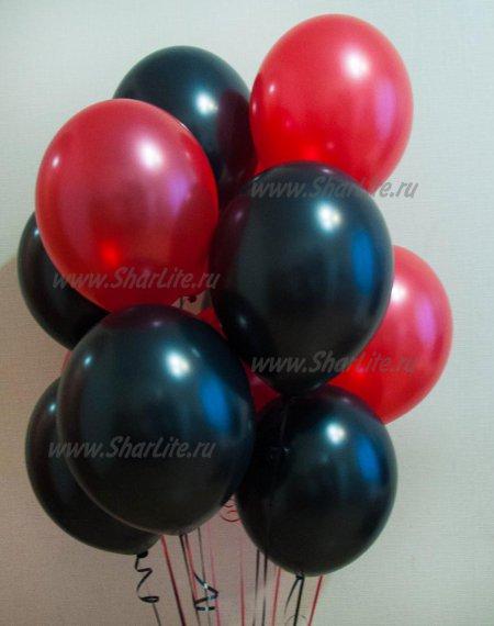 Воздушные шары  черные и красные