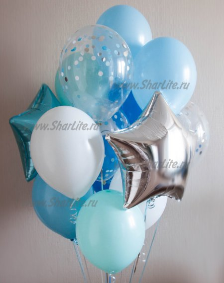 Набор из  воздушных шаров В мятных тонах
