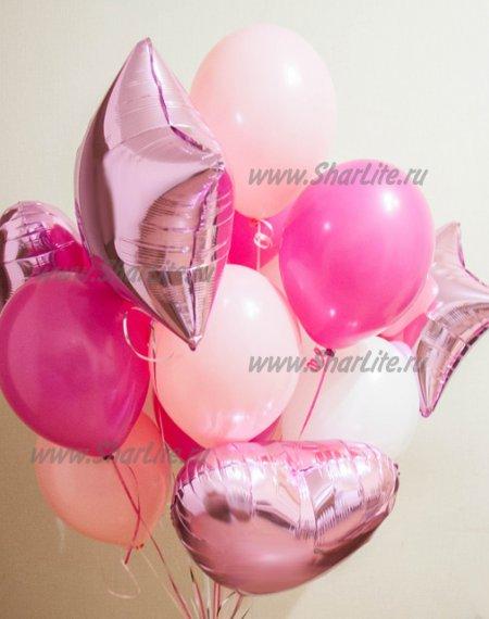Букет из воздушных шаров В розовых тонах