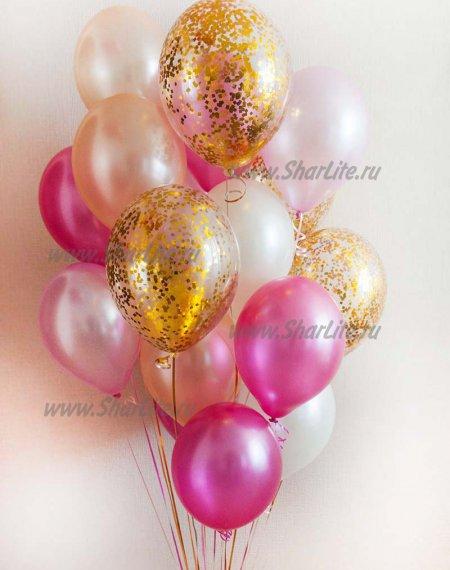 Букет В розово-золотых тонах