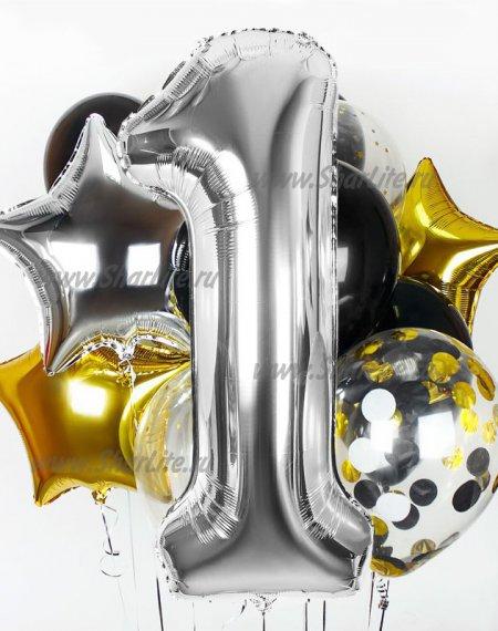 Букет шаров На день Рождения, вариант №1
