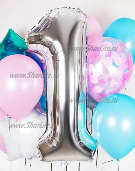 Букет из шаров  На день Рождения, вариант №3