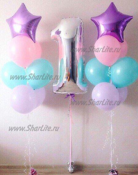 Букет из шаров На день Рождения девочке