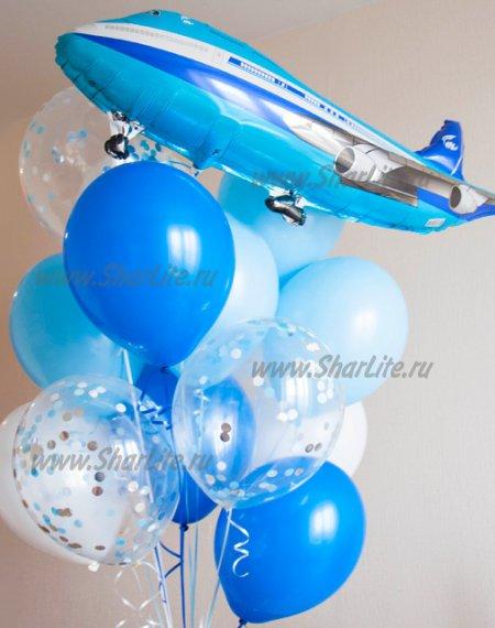 Букет из шаров Пассажирский самолет