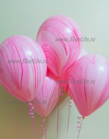 Воздушные шары Супер агаты розовые