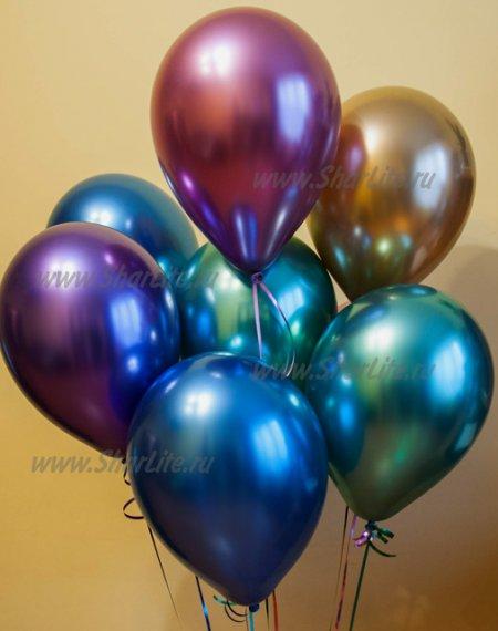 Воздушные шары ХРОМ ассорти