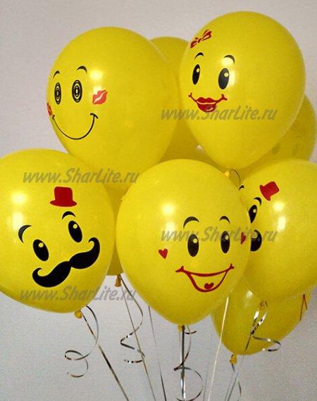 Воздушные шарики желтые