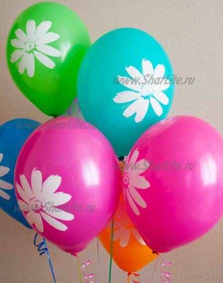 Воздушные шары с ромашкой