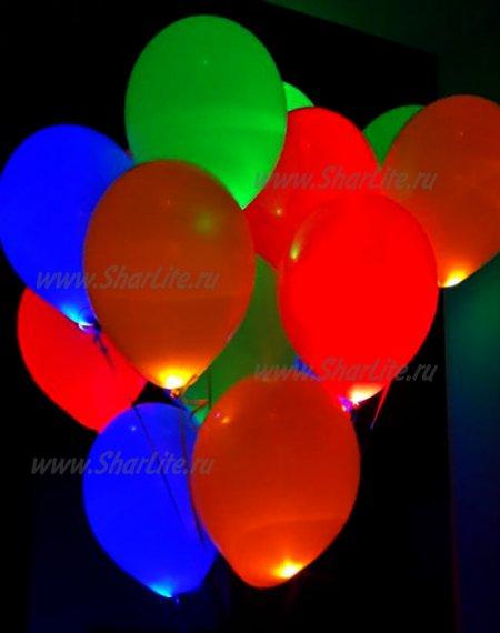 Шары  Разноцветные светящиеся