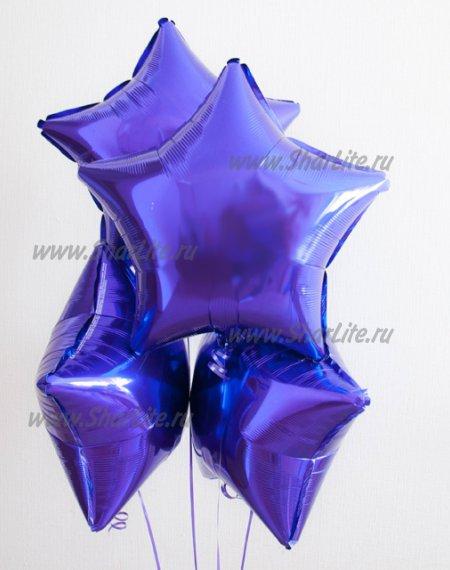 Фольгированные звезды фиолетового цвета