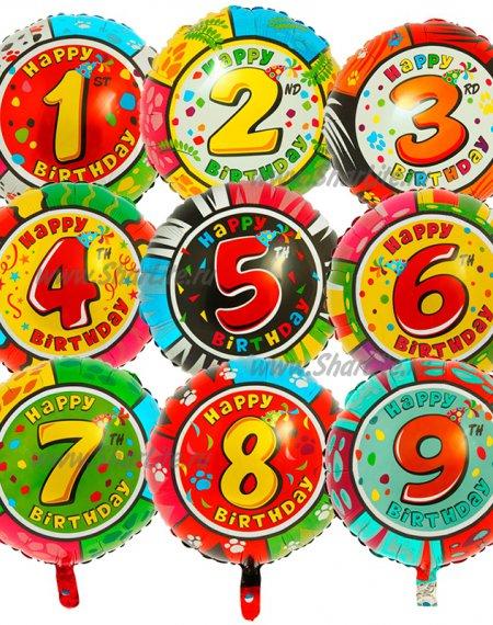 Фольгированный шар с цифрой от 0 до 9