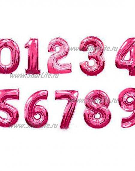 Фольгированные цифры розовые