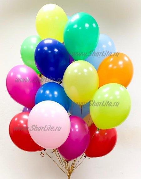 30 шаров пастель ассорти с обработкой Hi-Float