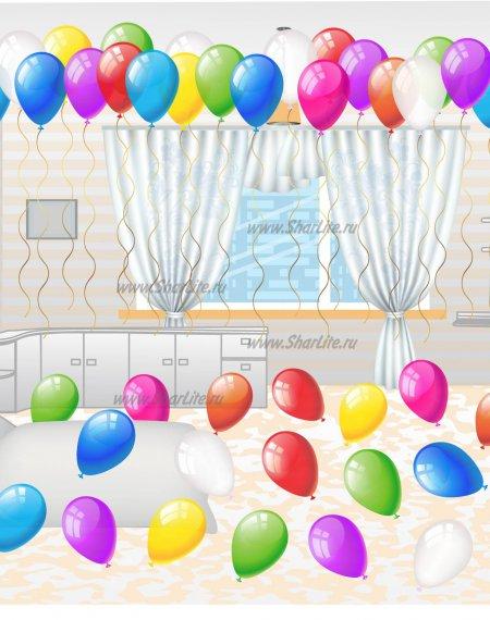 Готовый вариант оформления комнаты на день Рождения №2
