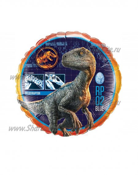 Фольгированный шар в виде круга Динозавр Парк Юрского Периода
