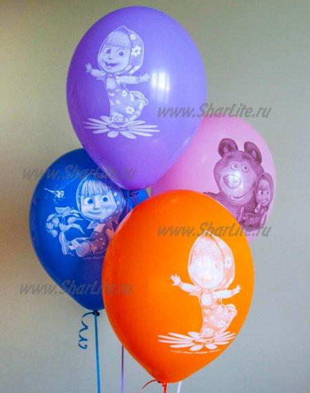 Воздушные шары Маша и медведь