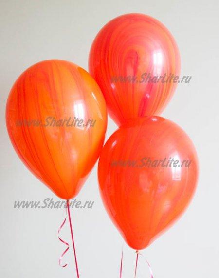Шары Супер агаты Красные с оранжевым