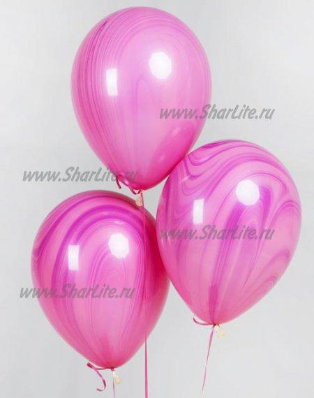 Шары Супер агаты Фиолетово-розовые