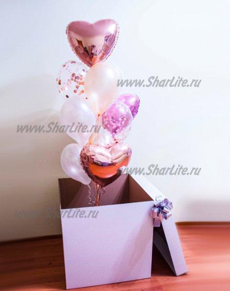 Коробка-сюрприз с воздушными шарами №1