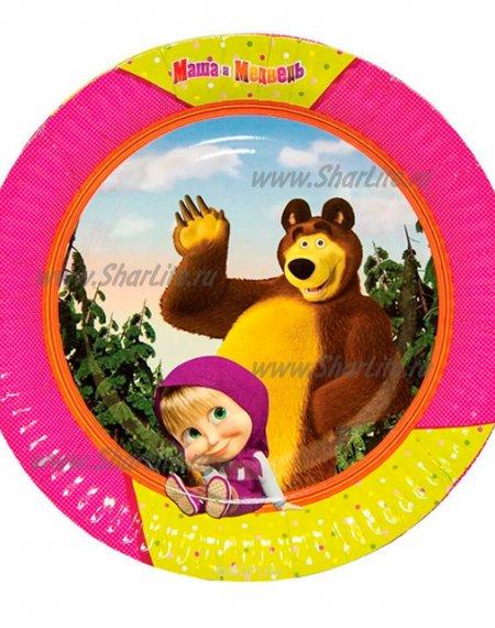 Тарелки Маша и медведь, 17см, 6 шт.