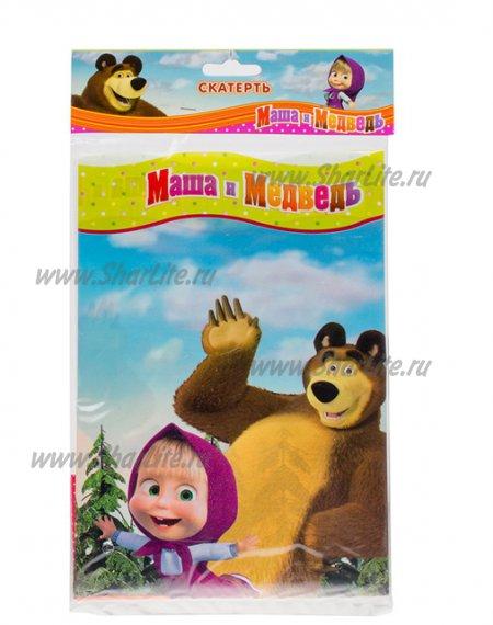 Скатерть п\э Маша и медведь, 130х180см