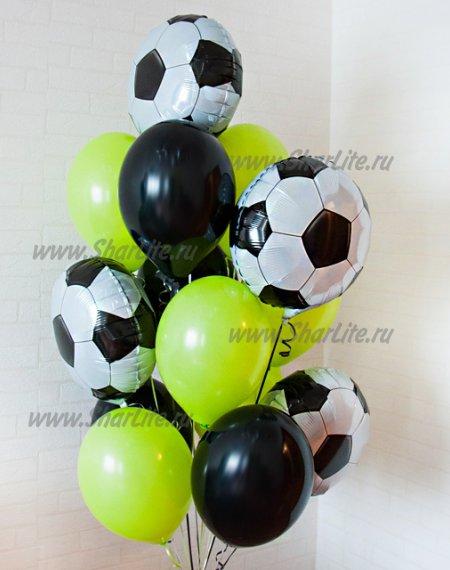 Набор шаров салатовый с мячами