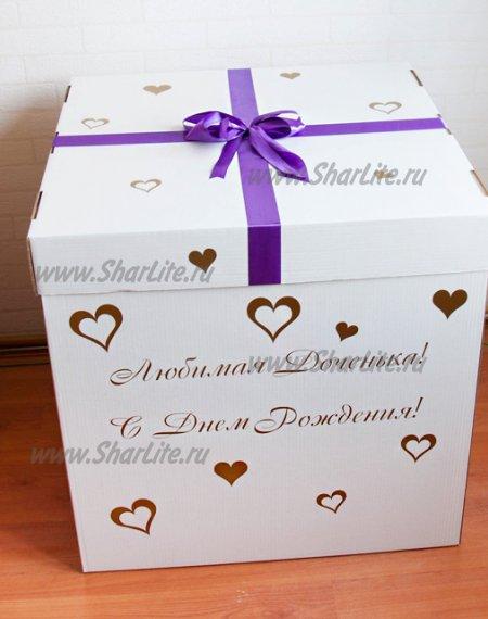 Коробка-сюрприз с шарами с конфетти №4