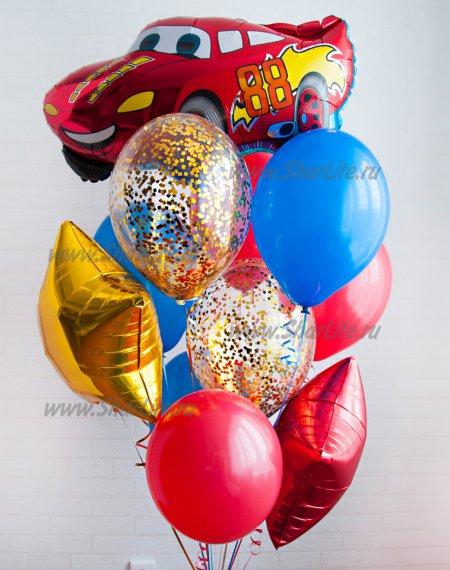 Букет из шаров с гелием Гонщик