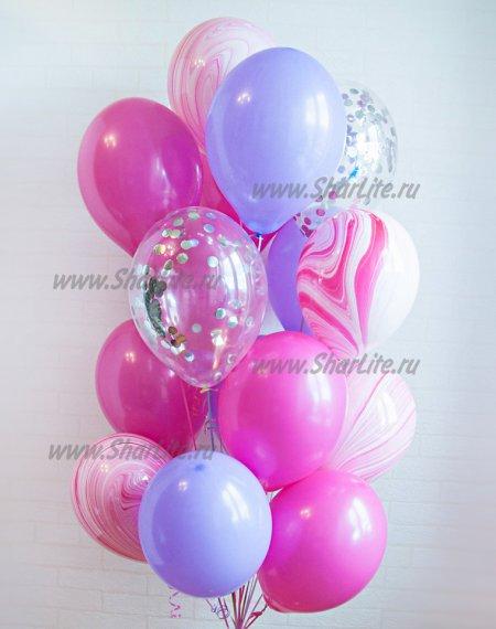 Набор шаров розовый с агатами